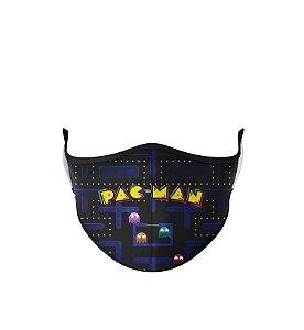 Máscara de Tecido Dupla Camada Antibacteriana Pacman