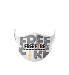 Máscara de Tecido Dupla Camada Antibacteriana Free Fire-1