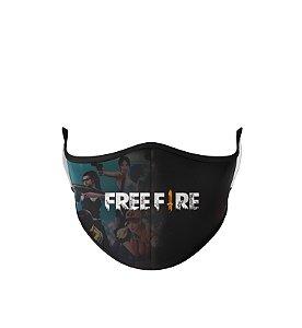 Máscara de Tecido Dupla Camada Antibacteriana Free Fire-2