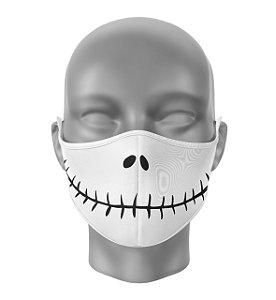 Máscara de Tecido Dupla Camada Antibacteriana Jack Skellington