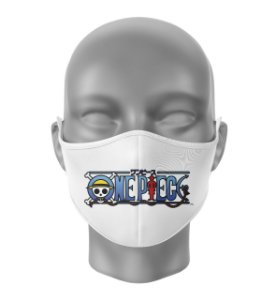 Máscara de Tecido Dupla Camada Antibacteriana One Piece Branco