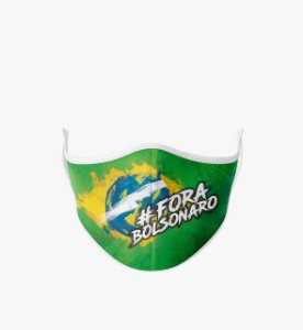Mácara de Tecido Dupla Camada Antibacteriana Fora Bolsonaro