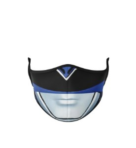 Máscara Antibacteriana Power Rangers Azul