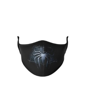 Máscara Antibacteriana Estampa Homem Aranha Preto