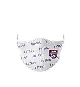 Máscara Antibacteriana Estampa Futgol Branca