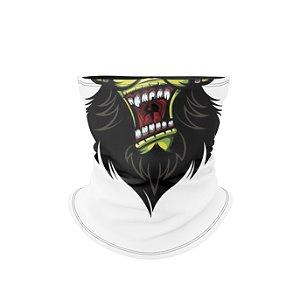Balaclava Elástica Térmica Estampa Macaco Branco