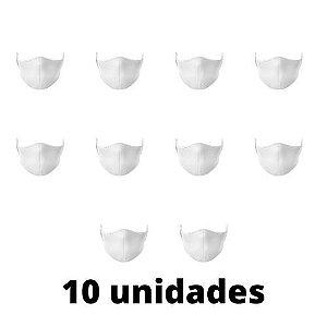 Máscara Antibacteriana Branca Kit C/ 10 Unidades
