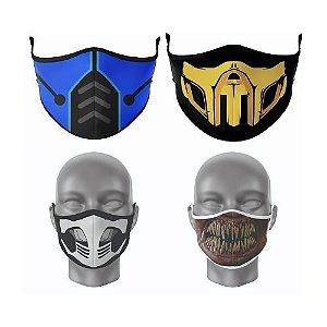 Kit Máscara Antibacteriana Mortal Kombat