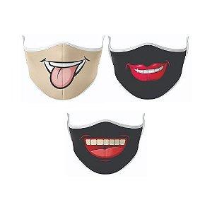 Kit Máscara Antibacteriana Sorriso