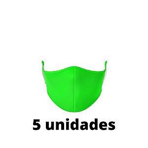 Máscara Antibacteriana Verde Kit C/ 5 Unidades