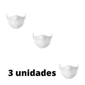 Máscara Antibacteriana Branca Kit C/ 3 Unidades