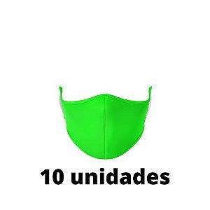 Máscara Antibacteriana Verde Kit C/ 10 Unidades