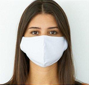 Máscara de Proteção Lavável Dupla Camada em Algodão Penteado