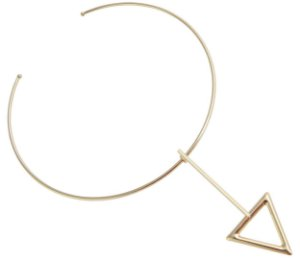 Gargantilha Choker Arco Triângulo Dourada