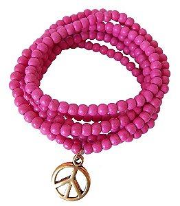 Pulseira Peace - Pink