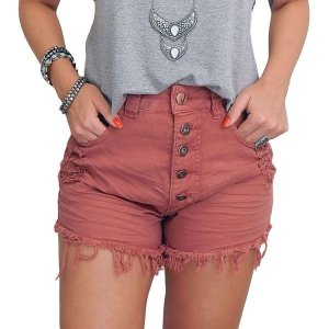 Shorts Jeans Hot Pants - Terracota