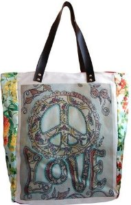 "Bolsa ""Tote"" Peace and Love"