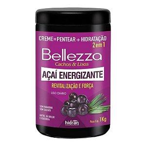 Creme de Pentear + Hidratação Hidran Bellezza 2 em 1 Açaí Energizante 1Kg