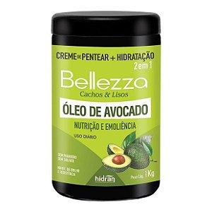 Creme de Pentear + Hidratação Hidran Bellezza 2 em 1 Óleo de Avocado 1Kg