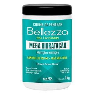 Creme de Pentear Hidran Bellezza Mega Hidratação Extrato de Cacau e Silicone 1Kg