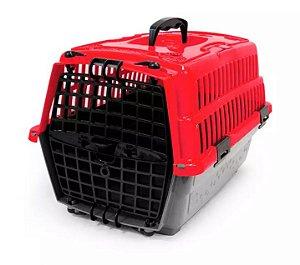 Caixa de Transporte Pet Injet Love Travel Vermelha N1