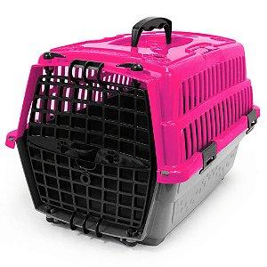 Caixa De Transporte Pet Injet Love Travel 1 Rosa