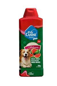 Shampoo Pró Canine 700ml Frutas Melancia