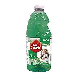 Eliminador De Odores Pró Canine 2L Herbal