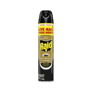 Inseticida Aerossol RAID Leve 420 e Pague 300ML Mata Baratas e Formigas