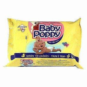 Toalhas Umedecidas Baby Poppy Com 100 Premium