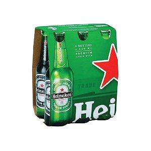 Cerveja Heineken Long Neck com 6 Unid. 330ml