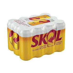 Cerveja Skol Pilsen com 12 Unid. Lata 473ml