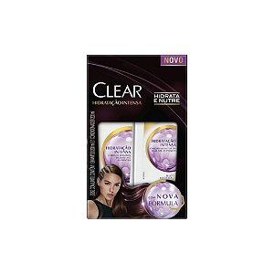 Kit Shampoo e Condicionador Clear Anticaspa Hidratação Intensa 200ml