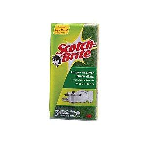 Esponja Multiuso Scotch-Brite Com 3 Unidaddes Wave Limpez