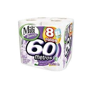 Papel Higiênico Mili Bianco Perfumado 8x60m