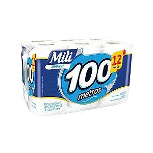 Papel Higiênico Mili Bianco 12x100