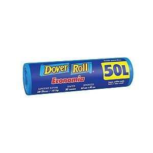 Saco de Lixo Dover Roll 50L com 30 Sacos