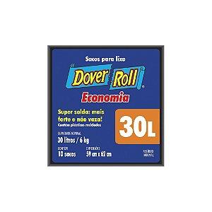 Saco de Lixo Dover Roll 30L com 10 Sacos