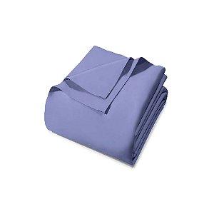 Lençol sem Elástico Santista Queen Prata Azul