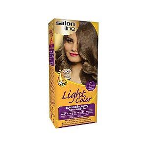 Coloração Salon Line Light Color 7.1 Louro Fascinante