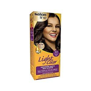 Coloração Salon Line Light Color 5.0 Castanho Claro
