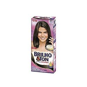 Coloração Niely Brilho&Ton 40 Castanho Café