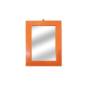 Espelho Landhs N.20 Moldura de Plástico Laranja