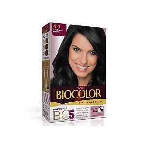 Coloração Biocolor Kit Creme 4.0 Castanho Médio