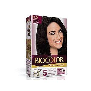 Coloração Biocolor Kit Creme 5.0 Castanho Claro