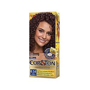 Coloração Cor&Ton Mini kit 6.54 Acajú Acobreado