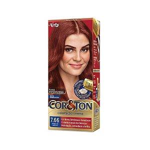 Coloração Cor&Ton Mini kit 7.66 Vermelho Intenso