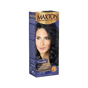 Tintura Creme Maxton Kit Prático 1.7 Preto Azulado