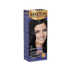 Tintura Creme Maxton Kit Prático 1.0 Preto