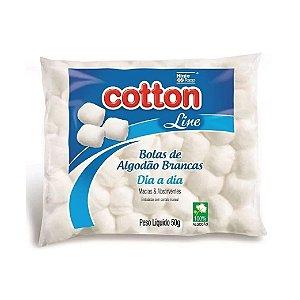 Algodão Cotton Line Bolas Brancas 50g